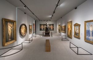 Installation view of Botticelli Reimagined (c) Victoria and Albert Museum, London