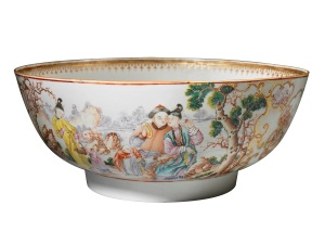 Late 18th century Chinese porcelain punch bowl, (est. £2,000-3,000)