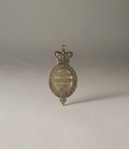 TIMOTHY MILLET London Haymarket, King's Theatre, Prince Regent's Box, No. 1, silver gilt pass. British c. 1815, 8.3 x 4.2 cm