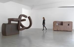Chillida: Rhythm-Time-Silence installation view, photography by Mike Bruce, Chillida Belzunce Family Collection © Zabalaga-Leku, DACS, London, 2016