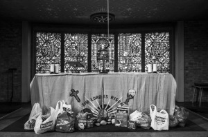 Foodbank collection, courtesy Jim Grover