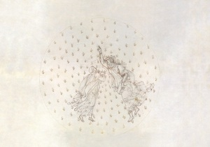 Sandro Botticelli Dante and Beatrice in the second planetary sphere of Paradise (Divine Comedy, Paradiso VI), around 1481-1495, Pen and brown ink over metal pen on parchment, 32,5 x 47,6 cm © Staatliche Museen zu Berlin, Kupferstichkabinett / Philipp Allard