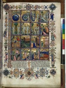 "Cristoforo Orimina Genesis (in the so called ""Hamilton-Bible""), around 1350-60 book illumination and gold on parchment, 37,5 x 26,5 cm © Staatliche Museen zu Berlin, Kupferstichkabinett / Jörg P. Anders"