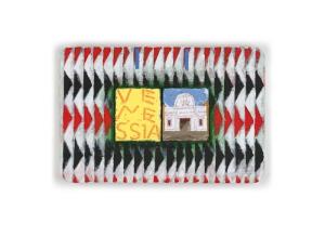 Joe Tilson, The Stones of Venice La Scuola Grande di San Giovanni Evangelista, Venessia, 2014, acrylic on canvas on wood relief, 50 x 75 cm, © Joe Tilson, courtesy Marlborough Fine Art, London