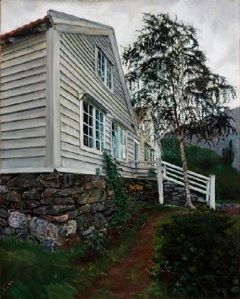 Nikolai Astrup The Parsonage, Oil on canvas 101 x 88 cm The Savings Bank Foundation DNB/The Astrup Collection/KODE Art Museums of Bergen