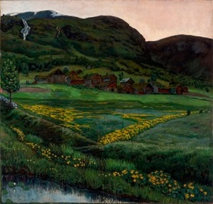 Nikolai Astrup A Clear Night in June, 1905-1907 Oil on canvas 148 x 152 cm The Savings Bank Foundation DNB/The Astrup Collection/KODE Art Museums of Bergen