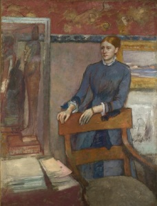 Hélène Rouart in her Father's Study, about 1886 Edgar Degas (1834-1917) Oil on canvas 162.5 x 121 cm © National Gallery, London