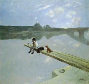 The Fisherman, 1884 Jean-Louis Forain (1852-1931) Oil on canvas 94.7 x117 cm © Southampton City Art Gallery / Bridgeman