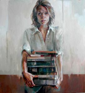 'Books' Acrylic on Canvas66 x 61 cm