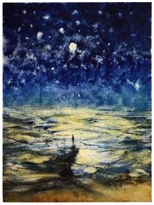 Bill Jacklin Stars and Sea at Night XVII, 2016, 75 x 100.5 cm Marlborough Graphics