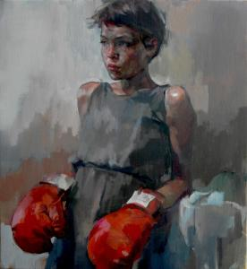 'Boxer' Oil on Canvas 66 x 61 cm
