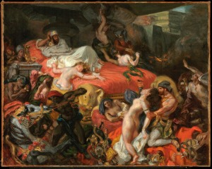 Eugène Delacroix The Death of Sardanapalus (reduced replica), 1846 Oil on canvas 73.7 x 82.4 cm © Philadelphia Museum of Art, Pennsylvania The Henry P. McIlhenny Collection in memory of Frances P. McIlhenny, 1986 (1986-26-17)