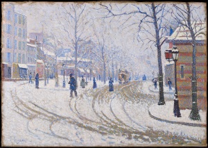 Paul Signac (1863-1935) Snow: Boulevard de Clichy, Paris, 1886 Oil on canvas 66 x 43.2 cm © The Minneapolis Institute of Art Bequest of Putnam Dana McMillan 61.36.16