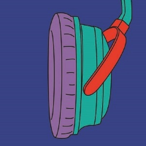 Michael Craig-Martin Headphones From: Fragments, 2015 Screenprint with protective glaze on Somerset Tub Sized Satin 410 gsm Paper and image 90.0 x 90.0 cm Edition of 35 Courtesy Michael Craig-Martin and Alan Cristea Gallery, London
