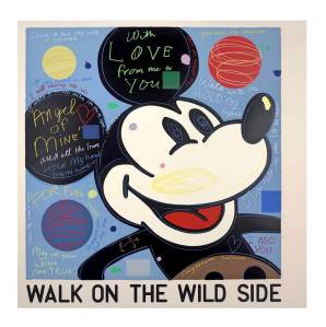 David Spiller With Love (Mickey), 2016 25 Colour Silkscreen print on hand torn Somerset smooth 400 gsm paper Signed and editioned by the artist Edition of 95 Image size 76 x 76 cm, Paper size 88 x 89 cm TAG Fine Arts