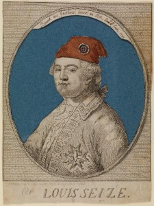 Jean-Michel Moreau after Noël Le Mire, Louis Seize: Bonnet des Jacobins donné au Roi, le 6 Juin 1792, Copper Engraving, UCL Art Museum
