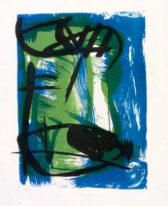 Peter Lanyon, Cornish Landscape, 1958, Lithograph, 48.5 x 36.2, Courtesy Osborne Samuel