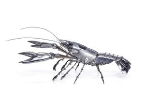 Crayfish. Ecrevisse Unique 30cm H x 40cm W x 95cm L