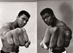 Bildhalle,Zürich Ali left & right Fist, London,1966 by Thomas Hoepker ©Thomas Hoepker