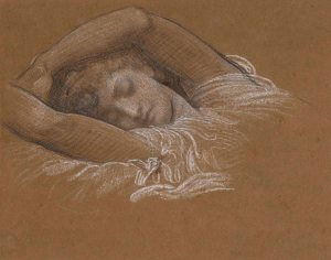 Frederic Leighton, Study of Iphigenia for Cymon and Iphigenia, 1883, Promised Gift from the Lanigan Collection ® NGC