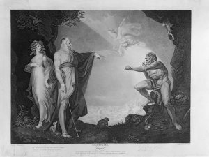 Henry Fuseli, Prospero, Miranda, Caliban and Ariel, Plate 4 from The Boydell Shakespeare Gallery 1786-89 ® York Museums Trust