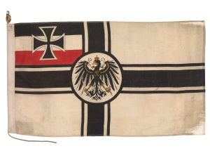 Imperial German Naval Ensign from SMS 'Moltke' 1912 that was present at Jutland. © National Maritime Museum, London