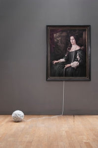 Ball and Chain, 2016. Ed.6 Digital c-type and pearls, 108.5 x 83.5 cm