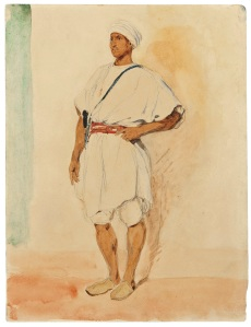 STEPHEN ONGPIN FINE ART Exhibition: Drawing Inspiration: Sketches and Sketchbooks from the 19th and 20th Centuries Eugene Delacroix (1798-1863) A Standing Moroccan Man Watercolour and pencil
