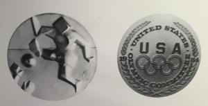 FAIRHEAD FINE ART LTD 1984 Silver USA Olympics Medal by Salvador Dali Weight: 1.05 oz - containing 46.65 grams of .999 silver