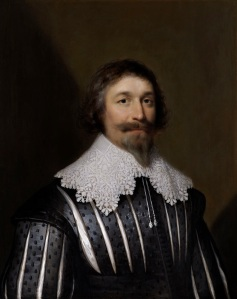 THE WEISS GALLERY Exhibition: Cornelius Johnson Cornelius Johnson (1593 – 1661) Sir William Campion of Combwell (1585–1640) Oil on panel Indistinctly signed, centre right: 'C.J….'