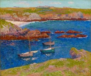 STOPPENBACH & DELESTRE Henry Moret (1856-1913) La baie de Lampaul, Île de Ouessant Oil on canvas
