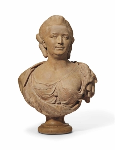 Lot 15 PRIVATE & ICONIC New York, Rockefeller Plaza Jun 22, 2016 A FRENCH TERRACOTTA BUST OF A WOMAN Price Estimate: 2,000 - 3,000 U.S. dollars