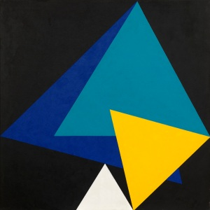 Peter Lowe Triangles in a dodecagon, 2001-04 Acrylic on canvas 112 x 112 cm Waterhouse & Dodd