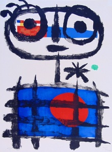 Gilden's Art Gallery JOAN MIRÓ 1893-1983 Sun Eater | Mangeur de Soleil, 1955 Original Hand Signed and Numbered Lithograph in Colours on Arches Paper Paper size: 76.2 x 56.5 cm. / 30 x 22.3 in.