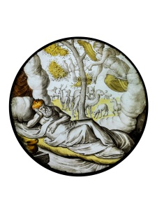 SAM FOGG Exhibition: Gilded Light: 16th Century Stained Glass Roundels from the collection of Sir Thomas Neave and other private collections Circle of Lambert Van Noort (c.1520-1571) Nebuchadnezzar dreams of a tree that must be felled