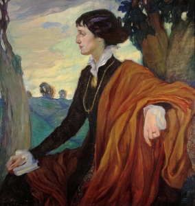 Anna Akhmatova by Olga Della-Vos-Kardovskaia, 1914 Copyright: State Tretyakov Gallery, Moscow