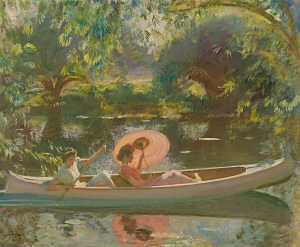 RICHARD GREEN GALLERY Exhibition: Aspects of British Impressionism Sir Alfred Munnings (1878-1959) September Afternoon Oil on canvas Signed lower left: AJ. Munnings