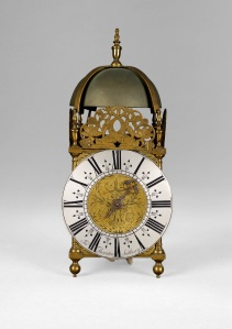 An 18th century striking lantern clock, circa 1760, by John Thornton of Sudbury.