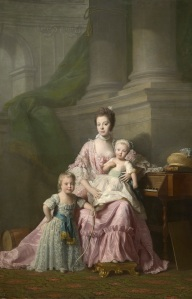 Allan Ramsay, Queen Charlotte with her two Eldest Sons, c.1764-9 Royal Collection Trust (C) Her Majesty Queen Elizabeth II 2016.