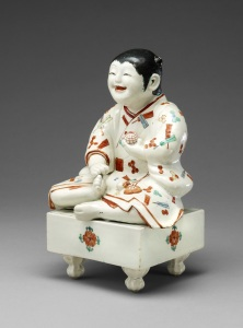Boy on a Go Board, Kakiemon Kiln, later 17th century © The Trustees of the British Museum