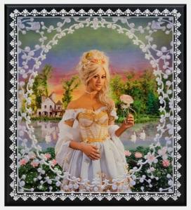Pierre et Gilles Marie Antoinette, le hameau de la reine (Marie Antoinette, The Queen's Hamlet), 2014 Hand-painted photograph on canvas 154 x 139 cm Photo courtesy of the artists and Galerie Daniel Templon, Paris â Brussels