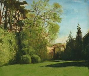 Taha Afshar Cedar Hayes Oil on canvas over panel 21 x 24.5ins (53.3 x 62.2cm)