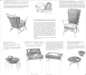 1965 ercol catalogue, showing a 1950s 308 ercol Folding occasional table Reproduced by kind permission of ercol