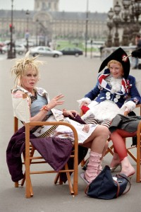 Absolutely Fabulous, Jane Horrocks and Joanna Lumley, 2001, Copyright BBC