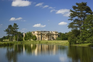 The south front of the house seen across the lake at Croome Court Credit: Andrew Butler