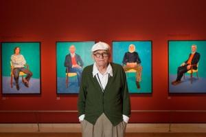 David Hockney at the Royal Academy of Arts (c) David Parry/ Royal Academy of Arts