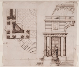 Gilles-Marie Oppenord, Design for a garden pavilion, for the Elector of Cologne, c 1720. The Rothschild Collection (The National Trust). Photo Mike Fear © The National Trust, Waddesdon Manor