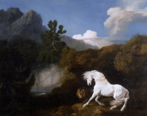 George Stubbs Horse Frightened by a Lion 1770 Oil on canvas 100.1 x 126.1 cm National Museums Liverpool, Walker Art Gallery