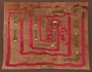 Kapil Jariwala A remarkable Peruvian tapestry surviving from the middle centuries of the first millennia, woven from alpaca wool and cotton, made by the people of the Chimu culture of Lambayeque, on the Northern coast of Peru