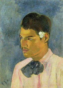 Paul Gauguin Young Man with a Flower behind his Ear, 1891 Oil on canvas 45.7 × 33.3 cm Property from a distinguished Private Collection, courtesy of Christie's Photo © Christie's Images / Bridgeman Images
